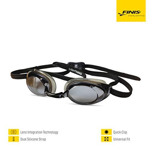Finis Trainingsgeräte Lightning Swim Goggle Gafas de natación, Unisex, Plata Espejo