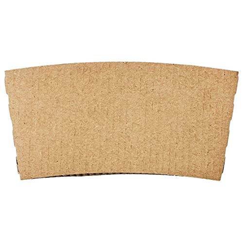 Amazon Basics Kraft Cup Sleeve for 10 and 12oz paper cup, 500-Count