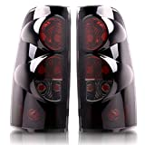 DWVO Taillights Tail Lamps Compatible with Chevy Chevrolet Silverado 1500 2500 3500 1999-2006 & 2007 with Classic Body Style GMC Sierra 1500 2500 3500 1999-2002 Smoke (Fit for Fleetside Models ONLY)