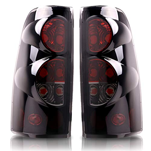 DWVO Taillights Tail Lamps For Chevy Chevrolet Silverado 1500 2500 3500 2003-2006 & 2007 with Classic Body Style GMC Sierra 1500 2500 3500 1999-2002 (Do Not Fit Barn Door/Stepside Models)