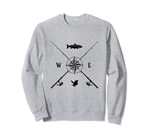 Fischen Hemd Manner Geschenke Vati Onkel Navigation Compass Sweatshirt