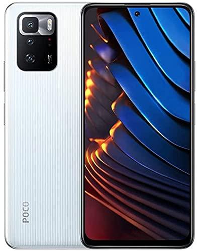 "Poco X3 GT 5G + 4G Volte Global Unlocked GSM 128GB + 8GB Ram 6.6"" Octa Core 64mp Triple Camera (Not Verizon/Boost/CDMA) (Cloud White)"