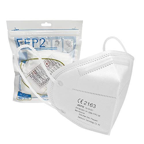 Aixine Mascarilla FFP2 (Máscara FFP2) de Alta Protección Respiratoria [10 Unidades] - Homologación UE y Certificación CE 2163 - Calidad Certificada por TÜV Rheinland - 5 Capas de Filtración > 95%