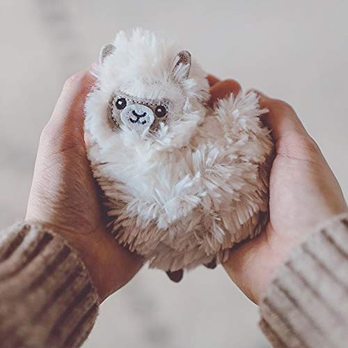Knuffel handwarmer lama