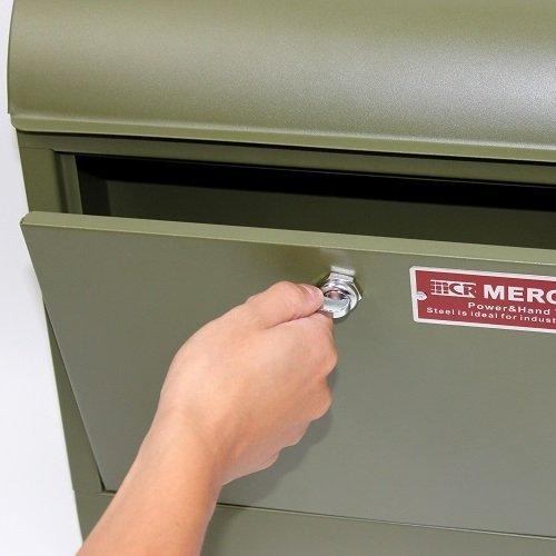 ポスト用レバー MERCURY 郵便ポスト対応 付替用レバーVer.3 C062対応 鍵を使わなくても開閉可能