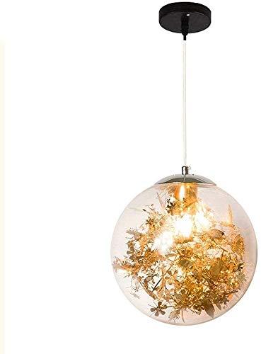 WSJTT Colgante de luz Lámpara de ara?a de Cristal LED, luz Colgante Redonda nórdica, luz Colgante de Hardware Minimalista Moderna para Mesa de café (Color:Gold-25cm)