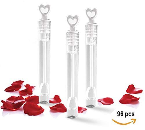LIEBESZAUBER Savon Bulles Set pour les mariages avec cœur Poignée Boîte 48er