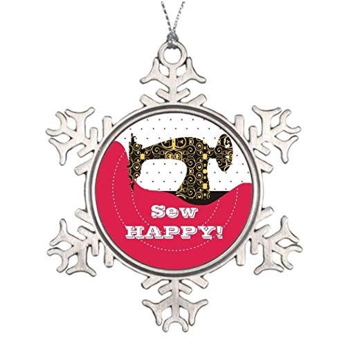 Cukudy Antieke Naaimachine Stof Borduurboom Badge 2018 Kerstmis Sneeuwvlok Ornament Grappige Vakantie Kerstmis Boom Decoratie Gift