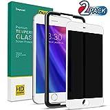 Deyooxi Cristal Templado Privacidad para iPhone SE 2020/iPhone 7/iPhone 8,2 Unidades 3D Completa de Cobertura Total...