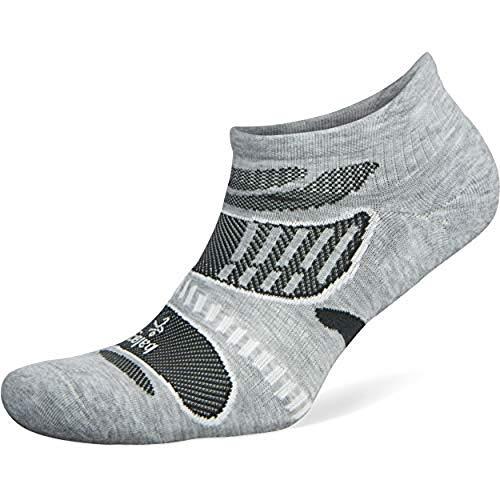 Balega Ultralight No Show Athletic Running Socks for Men and Women (1 Pair), Grey/White, Small