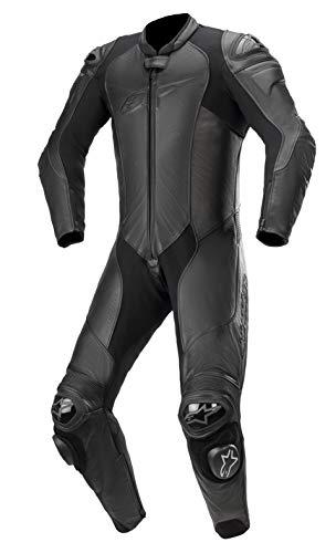 Alpinestars GP Plus v3 - Chaqueta de motocicleta de piel de grafito para hombre, color negro, 56