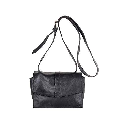 Cowboysbag dames lederen tas schoudertas Bag Grandy zwart 2208