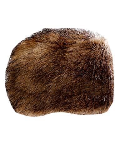 DianShaoA Mongolische Pelzimitat Mütze Damen Herren Russische Stil Dicke Skimütze Wintermütze Braun1 L