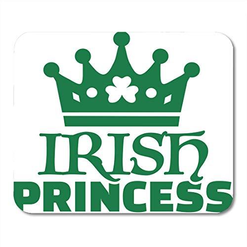 Muispads Viering Paddy Ierse prinses groene Shamrock kroon bier Keltische muismat voor notebooks, Desktop Computers matten