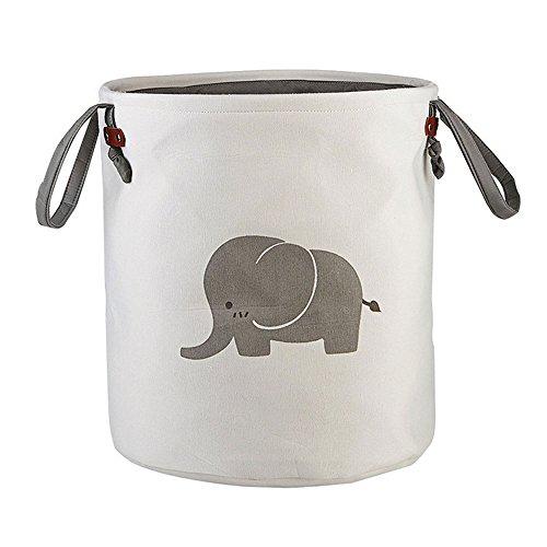 Globalflashdeal Cesta de almacenamiento plegable redonda para el hogar, cesta de almacenamiento de algodón para bebé, juguetes, ropa de bebé, estilo 1
