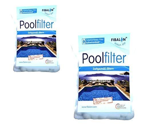 2 x FIBALON POOL - Hochwirksames Filtermaterial für Pool Sandfilteranlagen im 350g Beutel