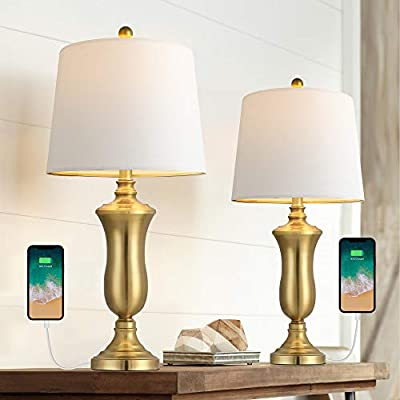 Modern USB Brass Table Lamps