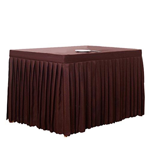 Anguang Pflegeleicht Tischdecke Mode Zuhause Hochzeit Dekoration Tischrock Konferenztisch Rock Dunkler Kaffee (180 * 60 * 75 cm)