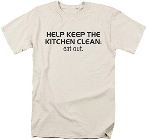 Saubere Küche - Männer T-Shirt in der Creme, Small, Cream