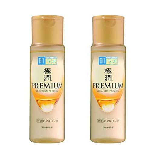 Hada Labo 肌研 Rohto Hadalabo Gokujyun Premium Hyaluronic Acid Lotion 5.7floz/170ml 2 bottle set