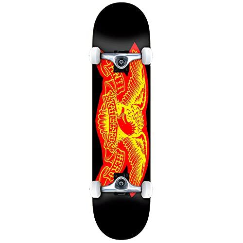 Anti Hero Team Copier Eagle - Skateboard completo da 20,3 cm, colore: Nero