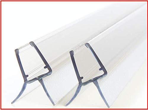 Premium Duschdichtung - 2x100cm Wasserabweisende Dichtlippe für Duschkabinen Duschwände Glastür - Für 6mm und 7mm Glasdicke geeignet