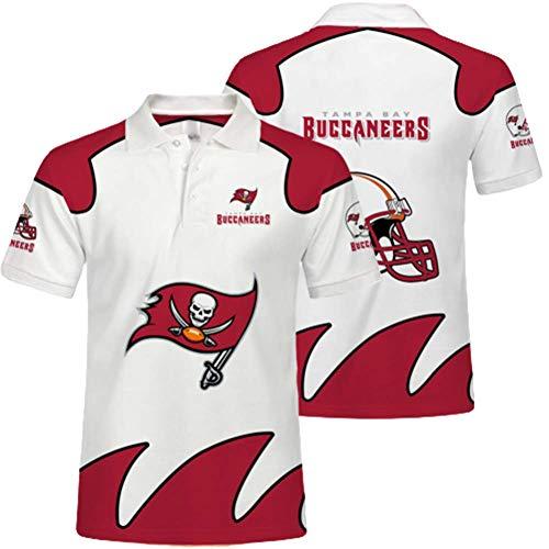 LTLZDYG NFL-Trikots, Tampa Bay Buccaneers-T-Shirts, Team-Unterstützer, sommerliche atmungsaktive 3D-Bedruckte Kurze Ärmel, Polo-Shirts für Männer und Frauen