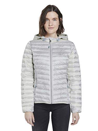 TOM TAILOR Damen Jacken Sportive Steppjacke Soft Stone Grey,XL