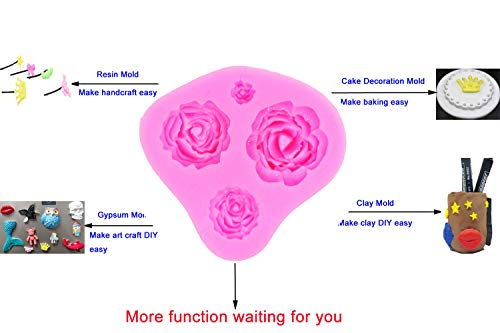 Silicone Cake Mold 3D Rose Flower Fondant Chocolate Mould DIY Decorating Tool Silicone Sugar mini mold Craft Molds DIY Cake Decorating Mold Tray