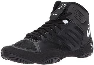 ASICS Unisex Kids JB Elite III GS Wrestling Shoe, Black/White, 1 Medium US Big