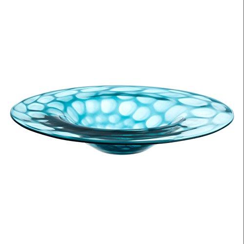 Leonardo - Schale, Obstschale - Gela - Farbe: Blau, Türkis - handgefertigt - Ø: 35 cm