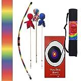 Two Bros Bows Rainbow Archery Combo Set, Kids Bow and Arrow, Toy Bow and Arrow, Archery Set for Kids