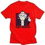 Camiseta de manga corta para hombre, estilo anime, estilo clásico, estilo anime, camiseta de manga corta, camiseta de manga anime (color: rojo, tamaño: XXS)