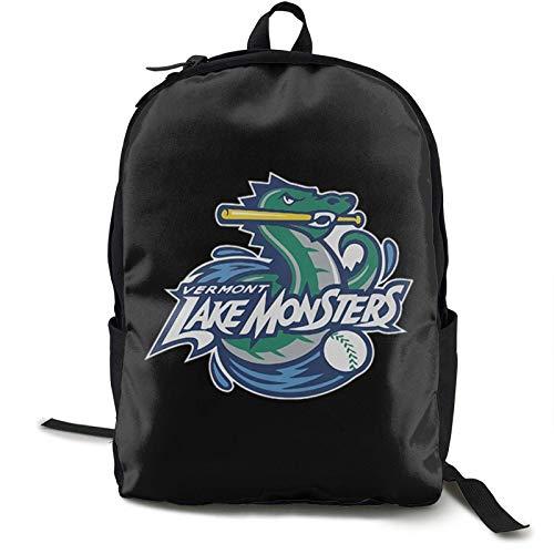 L-A-K-E M-O-N-S-T-E-R-S Printed Backpack Lightweight Shoulder Bag