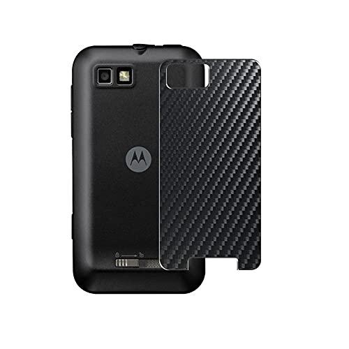 VacFun 2 Piezas Protector de pantalla Posterior, compatible con Motorola MOTO Defy, Negro Película de Trasera Espalda Piel (Not Funda Carcasa)