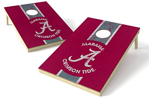 Wild Sports 2'x3' NCAA College Alabama Crimson Tide Cornhole Set - Heritage Design
