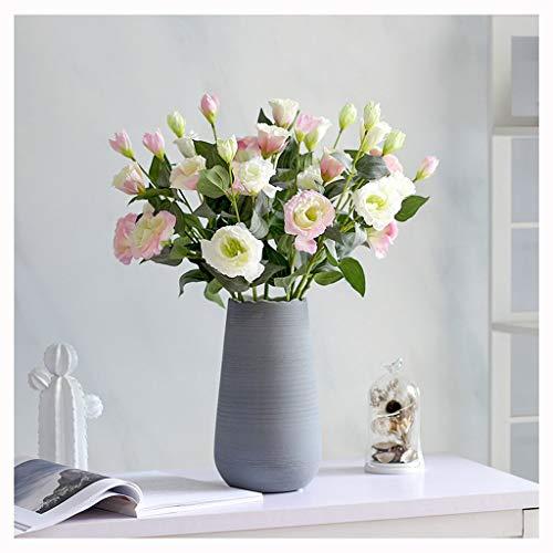 Jixi Künstliche Blumen mit Vase, Fälschung Silk Blumen Blumenarrangements for Home Hochzeit Bürocenter Dekoration Künstliche Blume (Color : C)