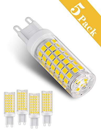Bombilla LED G9 regulable, 2 W (equivalente a halógeno de 20 W), luz blanca cálida 3000 K, base G9 2835, 14 LED, bombillas de bajo consumo, Luz de día blanca-6000K-6w