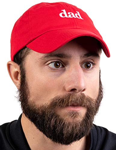 Dad Hat | Funny Embroidered Baseball Cap Gift for Men Daddy Husband Father Joke - Red