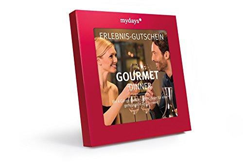 mydays Erlebnis-Gutschein Gourmet Dinner, 2 Personen, 4-gängiges Candle-Light-Dinner, Romantisches Dinner für Zwei