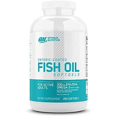 OPTIMUM NUTRITION Omega 3 Fish Oil, 300MG, Brain Support Supplement, 200 Softgels