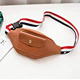 BAG Cadrage à la taille pour les femmes Paquet Pack- Hip Ceinture pack Zipper Colorblocked Bandoulière