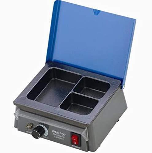 Supershu Equipo de laboratorio dental analógico calentador de cera olla 3 olla de cera para el kit de depilación dental, 220 V, 1