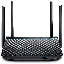 ASUS RT-ACRH13 AC1300 Dual Band WiFi Router with 4 Gigabit LAN Ports, Easy App setup, VPN, Parental Control, MU-MIMO, USB 3.0 port, Gaming, 4K Streaming