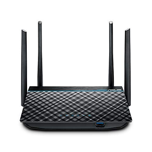 ASUS Dual-Band 2x2 AC1300 Super-Fast WiFi 4-Port...