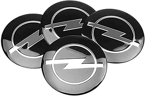 YYHDD 4 Piezas Tapas centrales para Llantas para Opel Astra H Corsa Insignia Antara Meriva Zafira,Aleación de Aluminio Cubierta Centro Rueda Coche,Tapacubos Logo Insignia Tapa a Prueba de Polvo,56mm