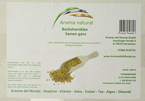 Aroma natural Bockshornklee Samen ganz 1 kg, 1er Pack (1 x 1 kg)