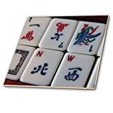 3dRose Luv Mah Jongg-Ceramic Tile, 4-inch (ct 12772 1), Multicolor