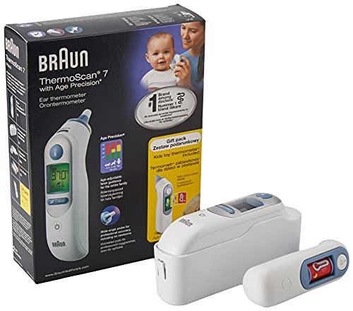Braun Thermomètre ThermoScan 7®, avec technologie Age Precision®, avec un jouet