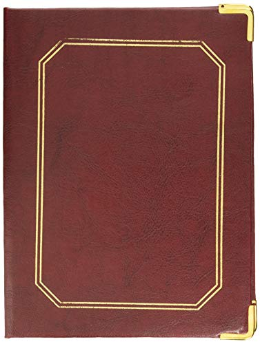 García de Pou 167.91 Carpeta Presentacion de Cuentas, 16.5 x 22.5 cm, Burdeos
